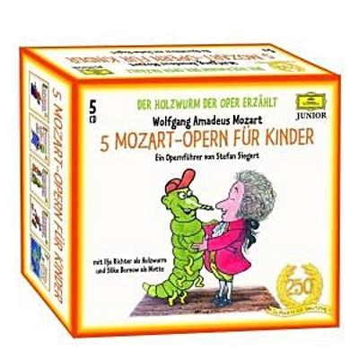 5 Mozart-Opern für Kinder. Der Holzwurm der Oper erzählt. 5 CDs