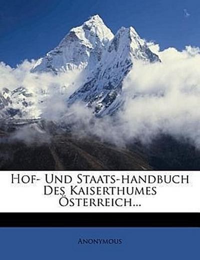 Hof- und Staats-Handbuch des Kaiserthumes Österreich, zweiter Theil