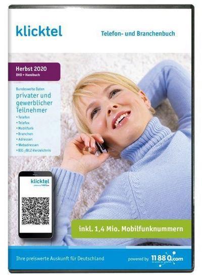 klicktel Telefon- und Branchenbuch Herbst 2020. Für Windows 7/8/10