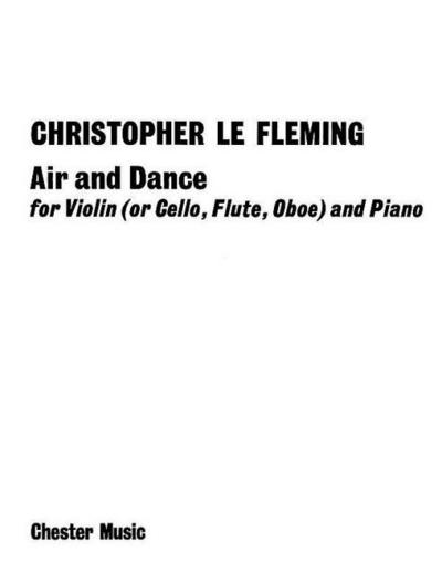 Air and dance : for violin (or cello) andpiano