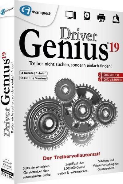 Driver Genius 19. Für Windows Vista/7/8/10