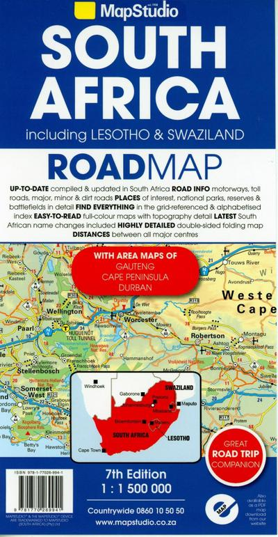 South Africa - Lesotho + Swaziland  1 : 1 500 000