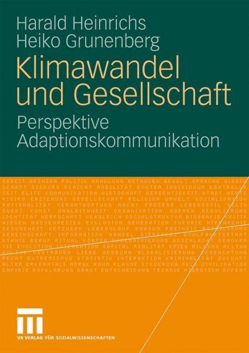 Klimawandel und Gesellschaft Harald Heinrichs