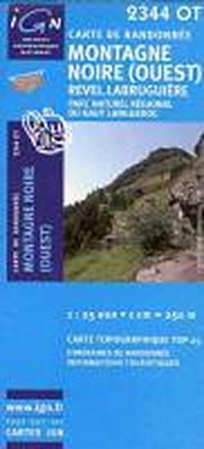Montagne Noire (Quest)  - Revel - Labruguière 1 : 25 000