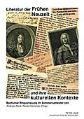 Literatur der Frühen Neuzeit und ihre kulturellen Kontexte