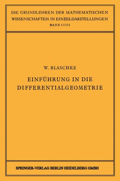 Einführung in die Differentialgeometrie