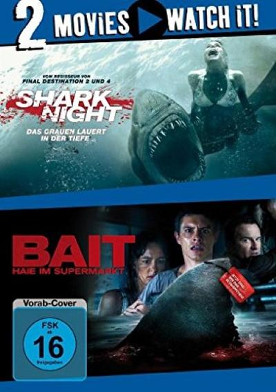 Shark Night / Bait - Haie im Supermarkt - 2 Disc DVD