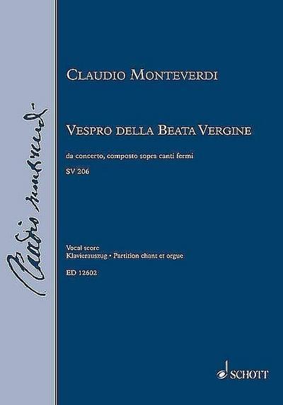 Vespro della beata vergine SV206für Soli, Doppelchor (SSATTTTBB) und Orchester