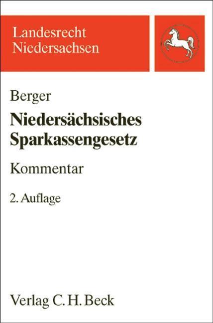 Niedersächsisches Sparkassengesetz ~ Klaus Berger ~  9783406546990