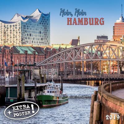 Moin, Moin Hamburg 2019: Kalender 2019 (Artwork Cities) - Tushita - Kalender, Deutsch| Englisch| Französisch| Spanisch| Italienisch, , ,