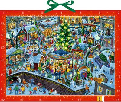 Wimmeliger Weihnachtsmarkt