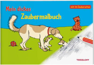 Mein dickes Zaubermalbuch; Malbücher und -blöcke; Ill. v. Renau, Teresa; Deutsch; schw.-w.