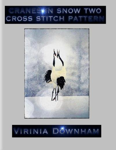 Cranes in Snow Two Cross Stitch Pattern