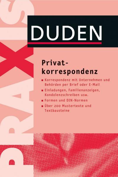 Duden Praxis - Privatkorrespondenz