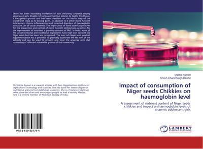 Impact of consumption of Niger seeds Chikkies on haemoglobin level
