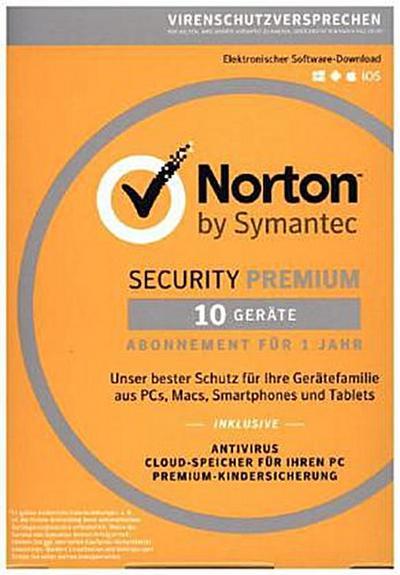 Norton Security Premium 3.0, 10 Geräte, Download-Code