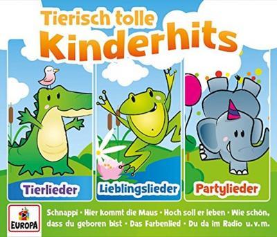 Tierisch tolle Kinderhits-01/3er Box (Tierlieder - Europa FM (Sony Music) - Audio CD, Deutsch, Kinderliederbande, Tierlieder, Lieblingslieder & Partylieder, Tierlieder, Lieblingslieder & Partylieder