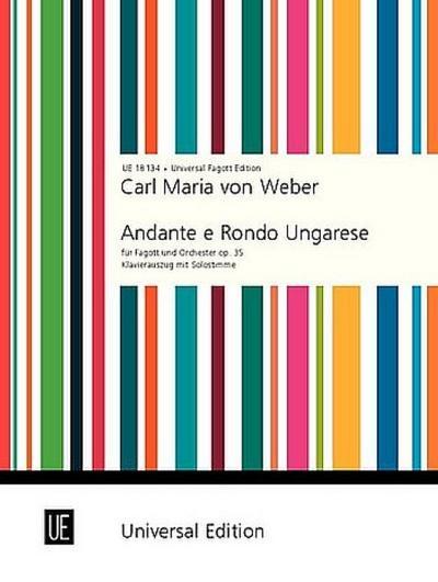 Andante e Rondo Ungarese: op. 35. für Fagott und Klavier. Klavierauszug.