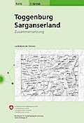 Swisstopo 1 : 50 000 Toggenburg / Sarganserland