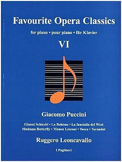 Favourite Opera Classics, für Klavier. Bd.6