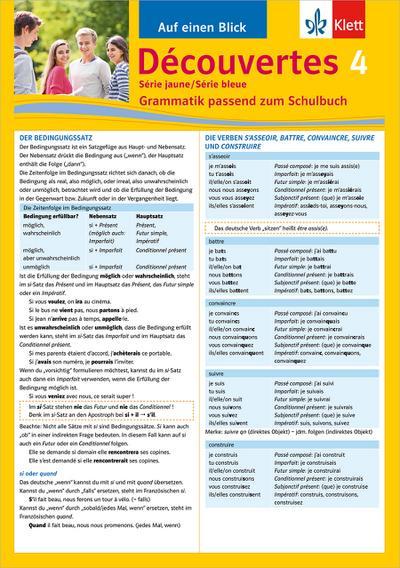 Découvertes Série jaune und bleue 4. Grammatik