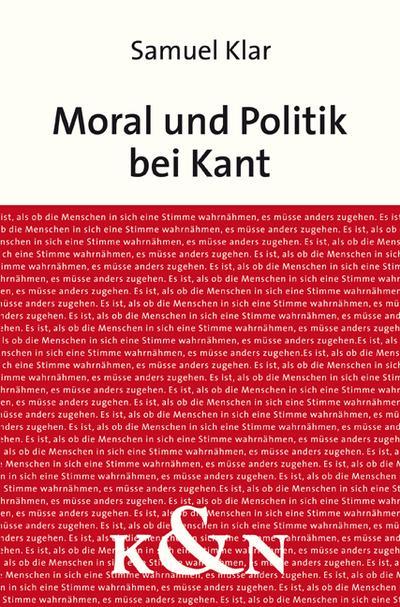 Moral und Politik  bei Kant