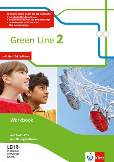 Green Line 2. Workbook mit Audio-CDs und Übungssoftware Klasse 6