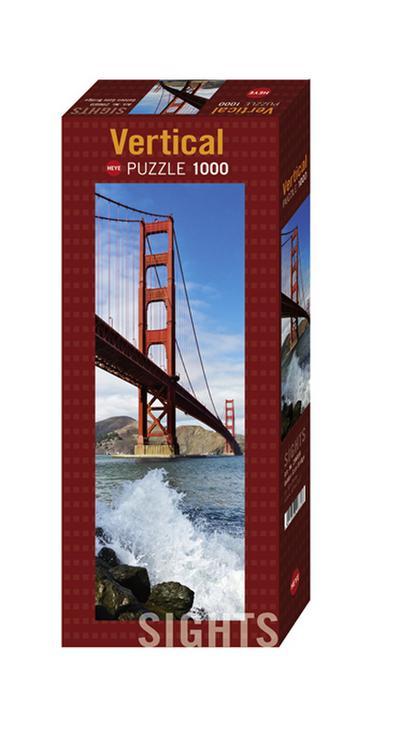 Heye 29669 - Vertikalpuzzle, Sights Golden Gate Bridge, 1000 Teile