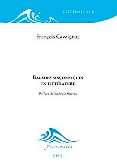Balades maçonniques en littérature