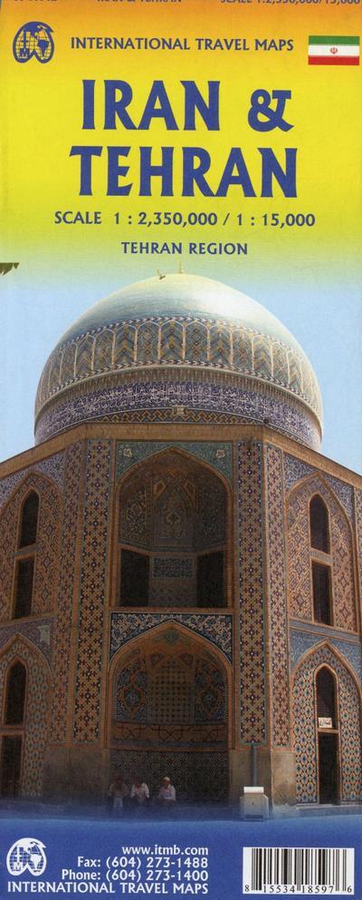 Iran & Tehran Travel Reference Map 1 : 2 350 000 / 1 : 15 000