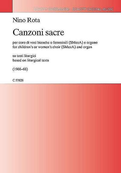 Canzoni sacrefür Frauenchor (Kinderchor) und Orgel