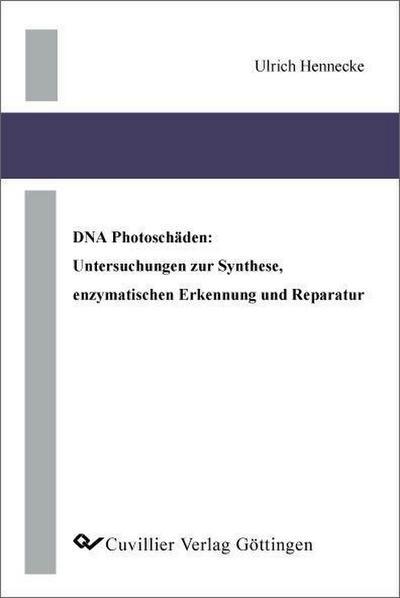 DNA Photoschäden: Untersuchungen zur Synthese, enzymatischen Erkennung und Reparatur