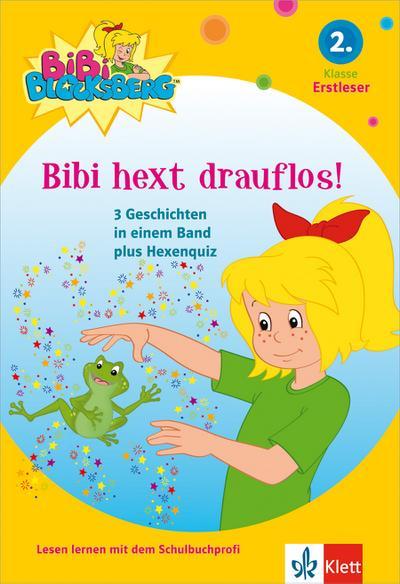 Bibi Blocksberg - Bibi hext drauflos!:  3 Geschichten in einem Band  für Erstleser, 2. Klasse: 3 Geschichten in einem Band plus Hexenquiz für Erstleser, 2. Klasse