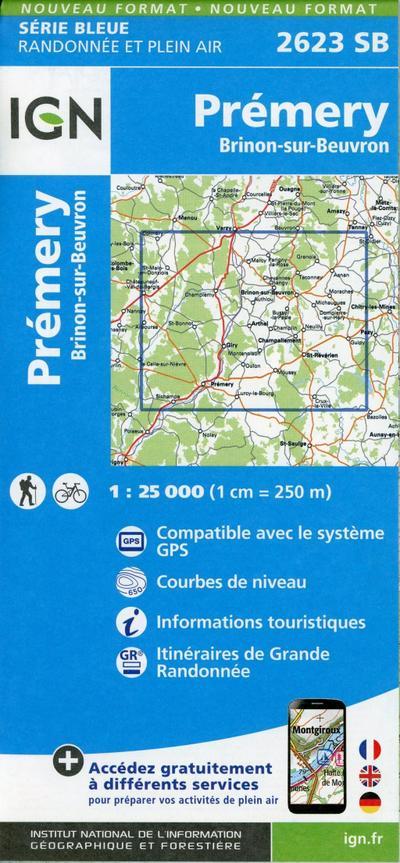 Prémery.Brinon-sur-Beuvron 1:25 000