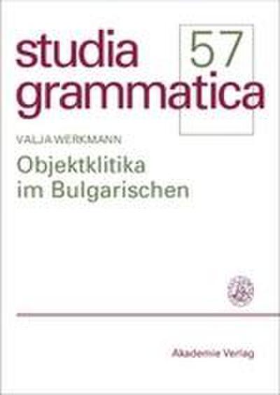 Objektklitika im Bulgarischen