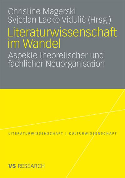 Literaturwissenschaft im Wandel