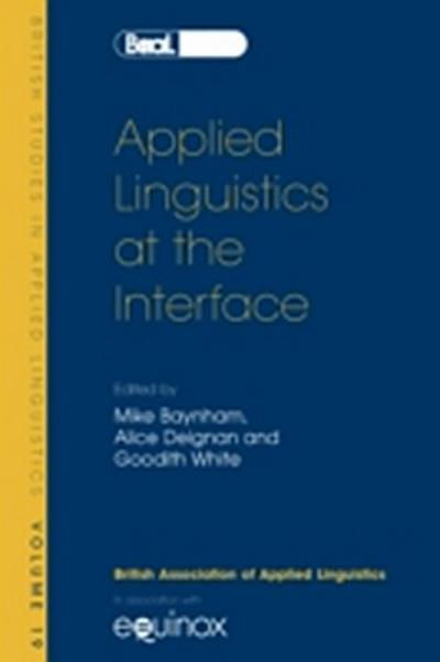 Applied Linguistics at the Interface