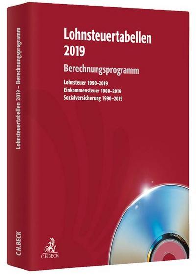 Lohnsteuertabellen 2019 - Berechnungsprogramm, 1 CD-ROM