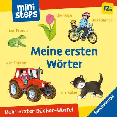 ministeps: Mein erster Bücher-Würfel: Meine ersten Wörter (Bücher-Set)