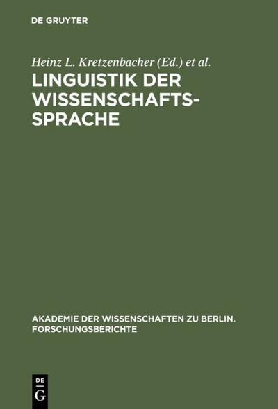 Linguistik der Wissenschaftssprache