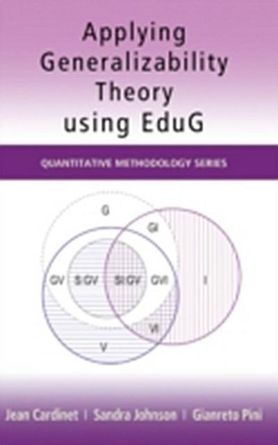 Applying Generalizability Theory using EduG