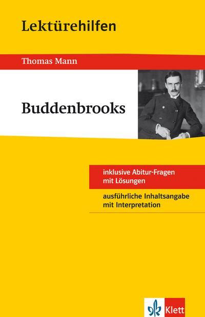 """Lektürehilfen Thomas Mann """"Buddenbrooks"""""""