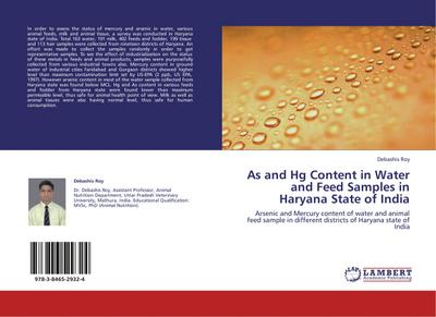 As and Hg Content in Water and Feed Samples in Haryana State of India