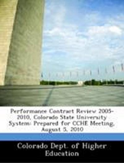 Colorado Dept. of Higher Education: Performance Contract Rev