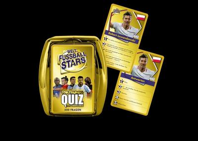 Top Trumps Quiz World Football Stars<BR>