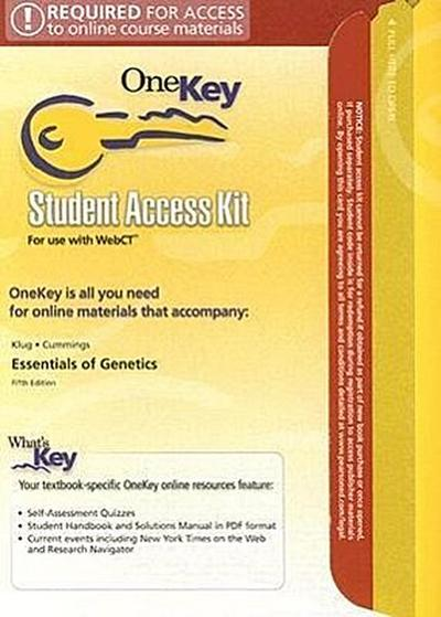 Essentials of Genetics Student Access Kit for Use with WebCT