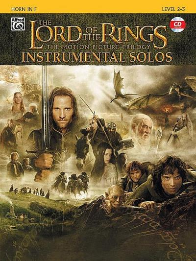 The Lord of the Rings, The Motion Picture Trilogy, w. Audio-CD, for Horn in F