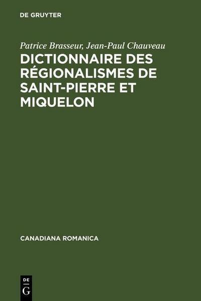 Dictionnaire des régionalismes de Saint-Pierre et Miquelon