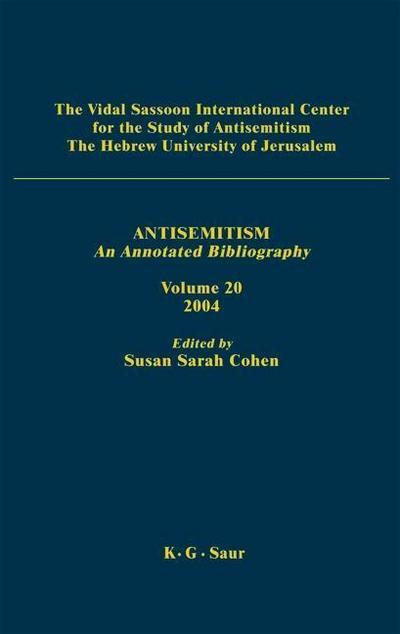 Antisemitism Volume 19. 2003