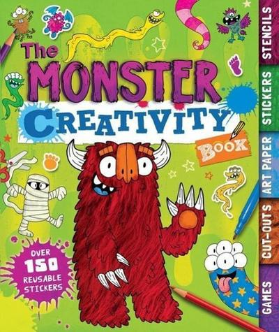 The Monster Creativity Book: Games, Cut-Outs, Art Paper, Stickers, and Stencils